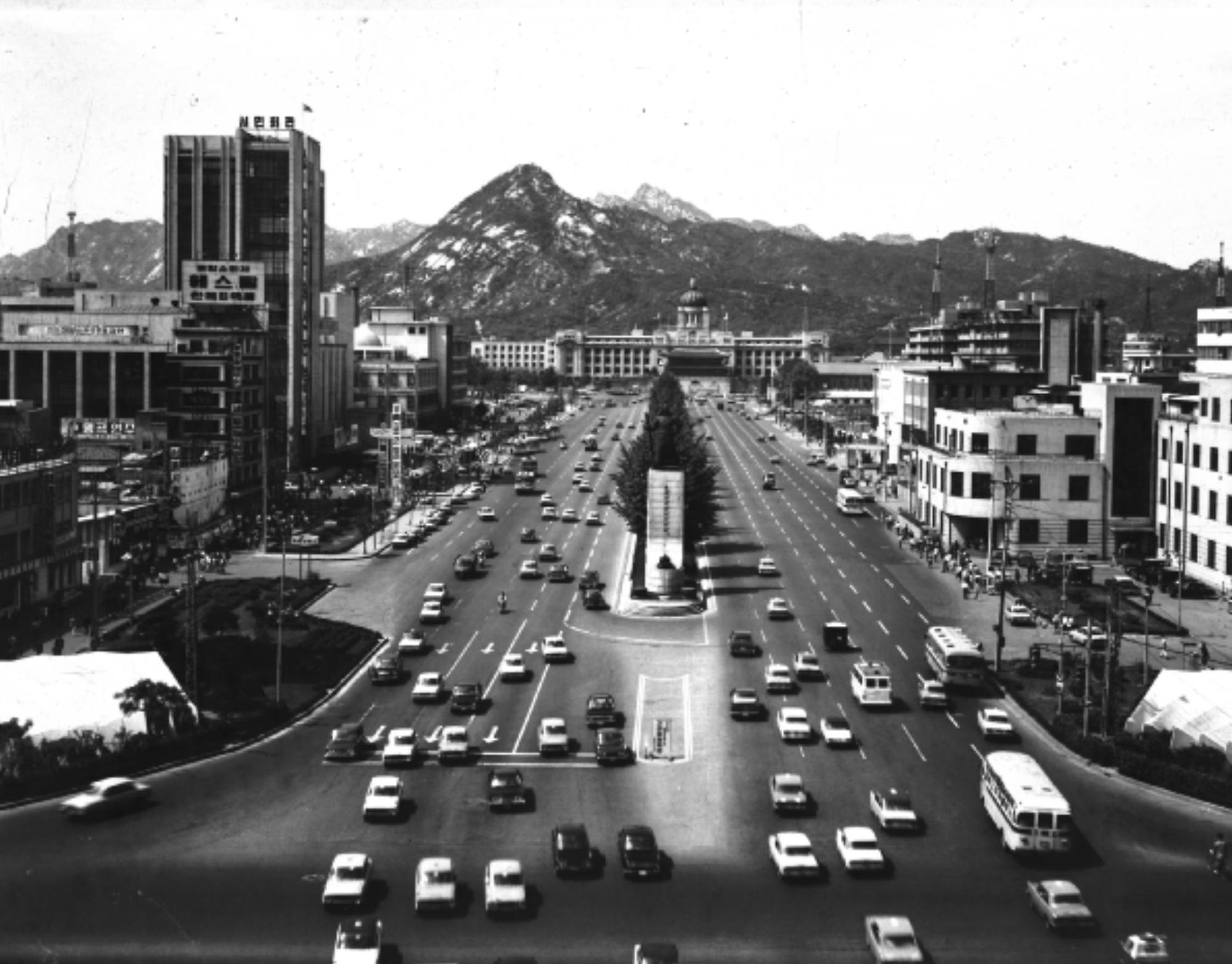 1966년 서울 시가지 전경
